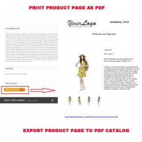 PRODUCT TO PDF (PRINT AS PDF)