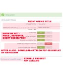 PRODUCT TO PDF (PRINT AS PDF)